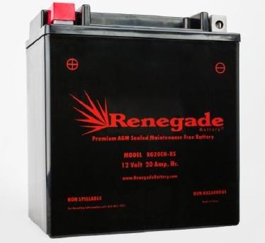 Snowmobile Battery;RG20CH-BS;Polaris (14-17) 600 INDY / (12-17) 600 SwitchBack / (10-17) 600 Rush, Rush PRO / (11-17) 600 RMK 144, 600 RMK 155
