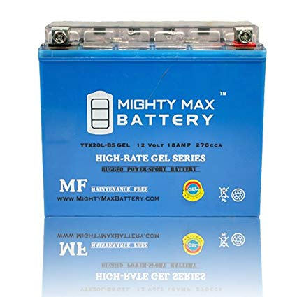 Mighty Max Battery YTX20L-BS GEL 12V 18AH Battery for Kawasaki Mule 3000 Mule 3010 brand product