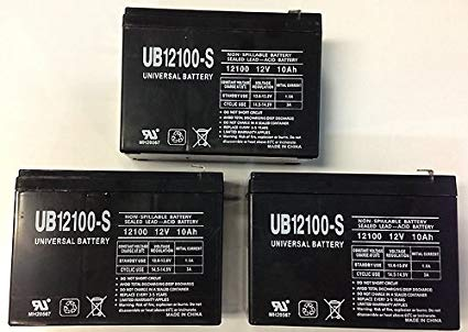 12V 10AH Replacement for SHOPRIDER ECHO 3 SL73 BATTERY - 3 Pack