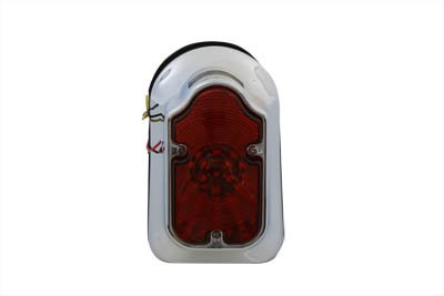 V-Twin 33-0333 Chrome Tombstone LED Tail Lamp Assembly