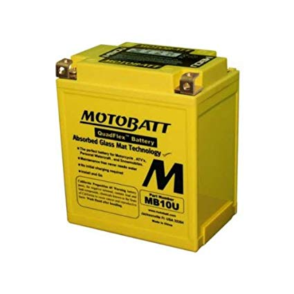 Motobatt MB10U 12V 14.5Ah Motorcycle Battery Replaces YB10L-A2