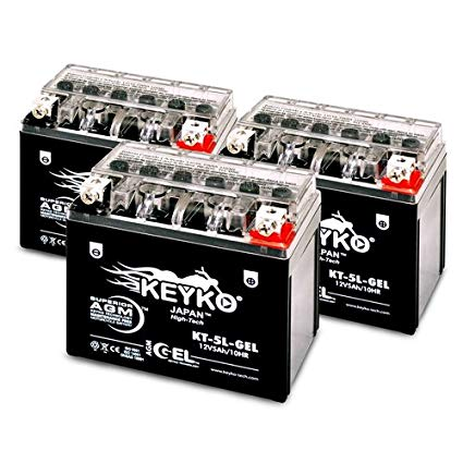 Kymco 125CC Agility 125, 2011-2012 YTX-5L-BS GEL Battery 12V 5Ah SLA Maintenance Free AGM-GEL Motorcycle Extreme High Performance Battery Replacement Genuine KEYKO - 3 Pack