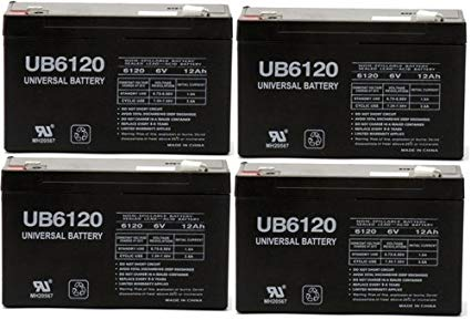 UB6120 - Data Shield ST550 UPS Battery 6v 12ah sla battery - 4 Pack