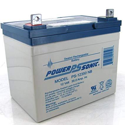 Power-Sonic 2 x 12V/35AH Sealed Lead Acid Battery w/ NB Terminal