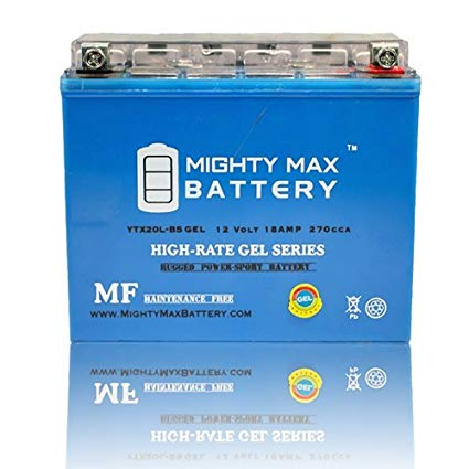 Mighty Max Battery YTX20L-BS GEL Battery for Yamaha YFM660F Grizzly 660 4x4 2002-2008 brand product