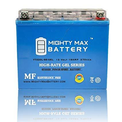 Mighty Max Battery YTX20L-BS GEL 12V 18AH Battery for Kawasaki Jet Ski JS550 550cc 82-85 brand product
