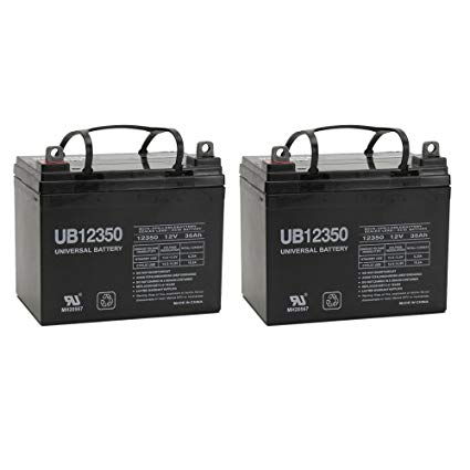 12V 35Ah Pride Mobility SC63 Revo 3 Wheel Replacement Battery - 2 Pack