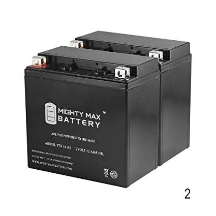 YTX14-BS Replaces Kawasaki KVF 750 Brute Force Prairie VN800 - 2 Pack - Mighty Max Battery brand product