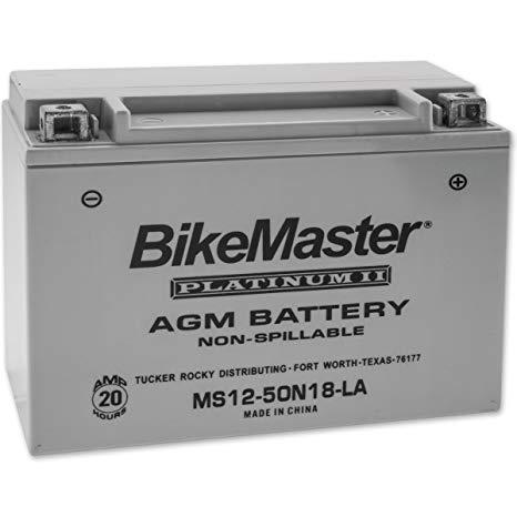BikeMaster AGM Platinum II Battery MS12-50N18-LA