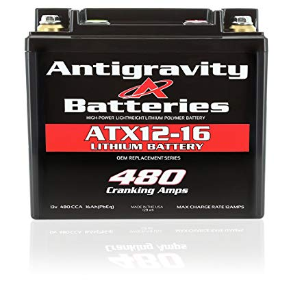 Antigravity Batteries YTX12-16 High Power Lithium Motorsports Battery, OEM Replacement Series