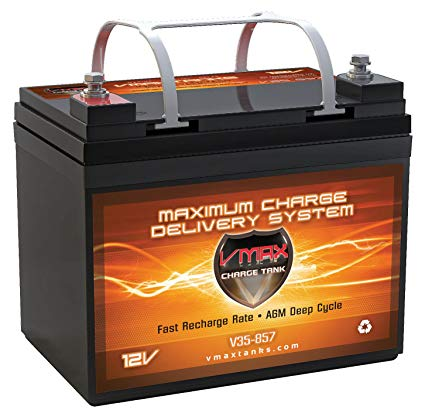 VMAX857 AGM Group U1 Deep Cycle Battery Replacement for Pride Jazzy Select Elite 12V 35Ah Scooter Battery