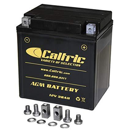 CALTRIC AGM BATTERY Fits POLARIS RANGER CREW 700 4X4 EFI 2008 2009